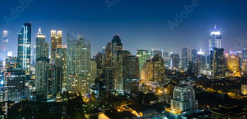 In de dag Bangkok Bangkok city night view