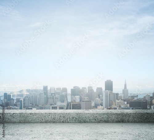 Foto op Canvas Stad gebouw city view