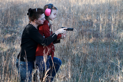Fotografia  Mom and Daughter Shooting