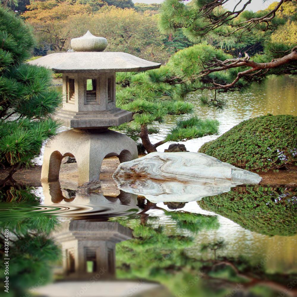 Fototapeta Jardin zen japonais
