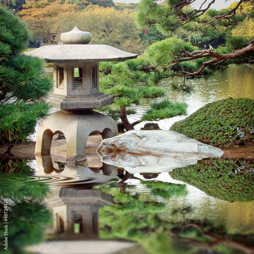 Deurstickers Japan Jardin zen japonais