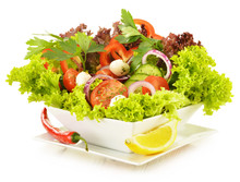 Vegetable Salad Bowl Isolated ...