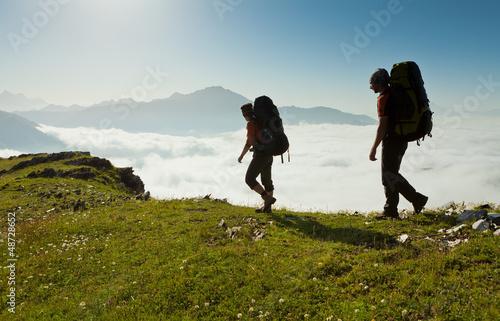 Canvastavla Trekking in Caucasus mountains Georgia, Svaneti region