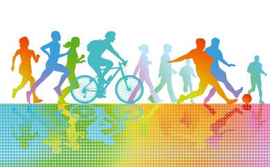 Panel Szklany Bieganie Sport und Bewegung