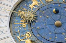Venice, Italy: Zodiacal Wall Clock