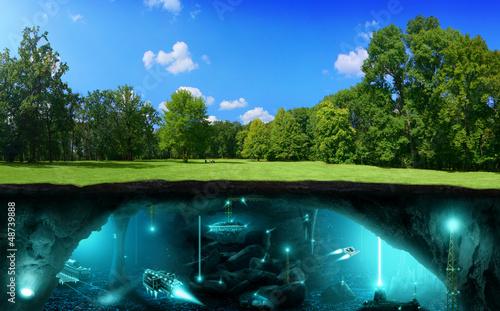 Türaufkleber UFO Extraterrestrial civilization