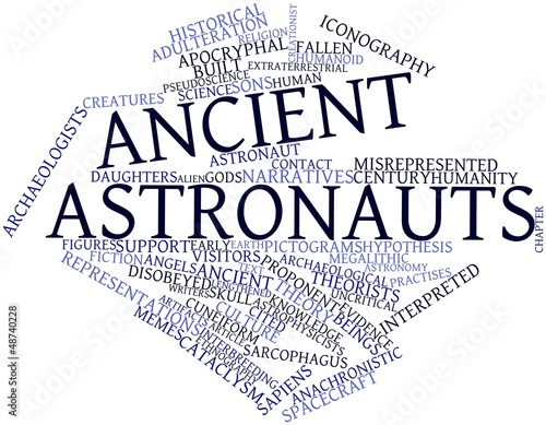 Word cloud for Ancient astronauts Wallpaper Mural