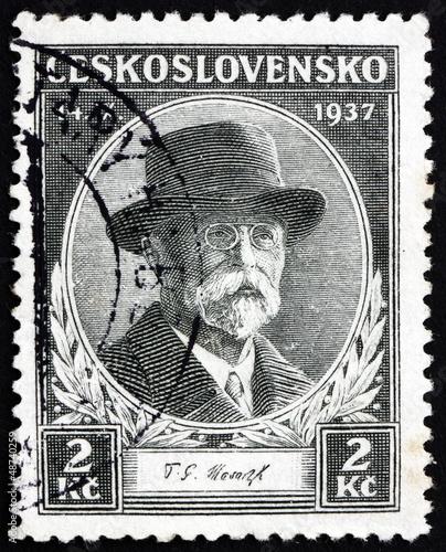 Fotografía  Postage stamp Czechoslovakia 1937 Tomas Garrigue Masaryk