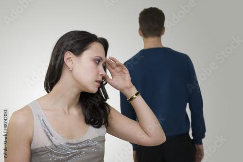 Fotografia, Obraz  Femme émue après une dispute avec son conjoint