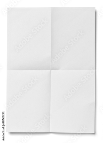 Fotografiet white crumpled unfolded note paper office business
