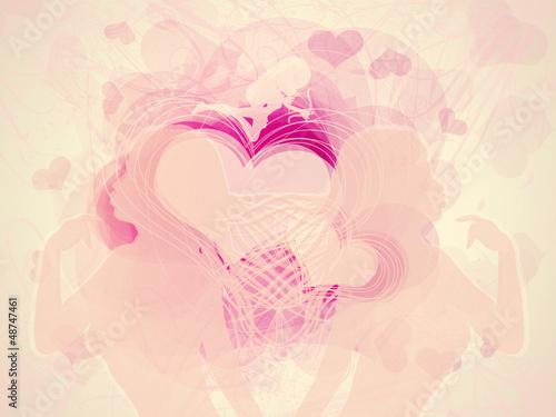 Fototapeta Valentine hearts background obraz na płótnie