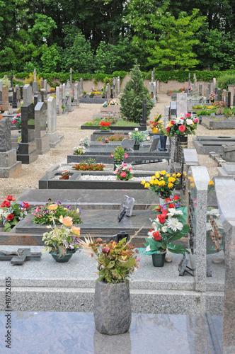 Foto op Canvas Begraafplaats the cemetery of Oberhausbergen in Alsace
