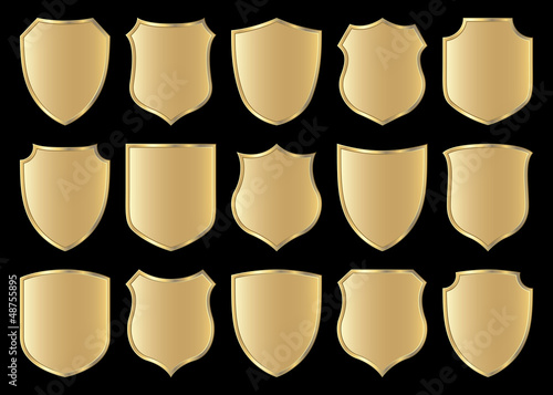 Fototapeta shield design set