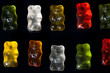 gummi bear - on black