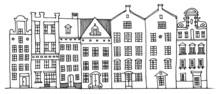 Cartoon Hand Drawing Houses