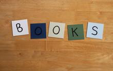 'BOOKS'  Letter Tiles - Book, ...