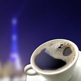 Fototapeta Wieża Eiffla - kawa