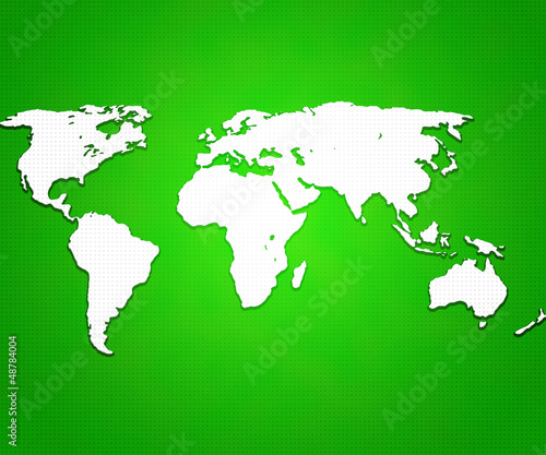 Türaufkleber Weltkarte Green World Map Background