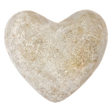 Stone Heart Shape Isolated On ...