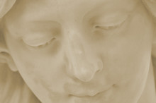 Detail Of Face Of Angel In Cemetery