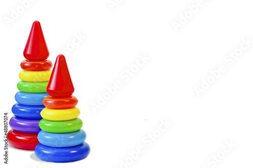 Fotografía  A toy for the child's development, pyramid