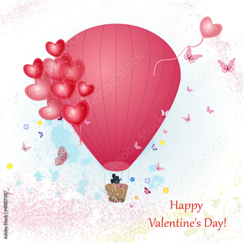 Valentine's Day with a balloon for your design