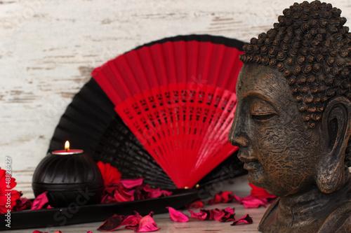 Doppelrollo mit Motiv - Asiatische Dekoration