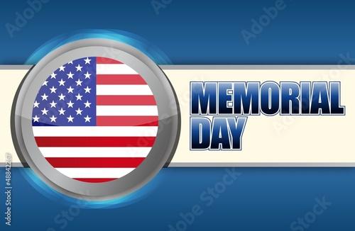 Fotografie, Obraz  USA Memorial day sign