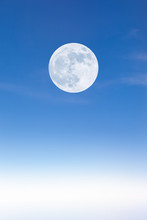 Full Moon Above The Clouds