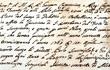 canvas print picture - manuscript