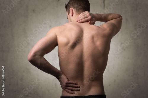 Fotografie, Obraz  Mann mit rückenschmerzen