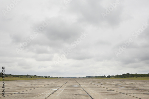 Foto op Aluminium Luchthaven Runway of the old airport
