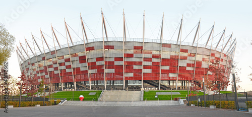 La pose en embrasure Stade de football National stadium Warsaw - Poland