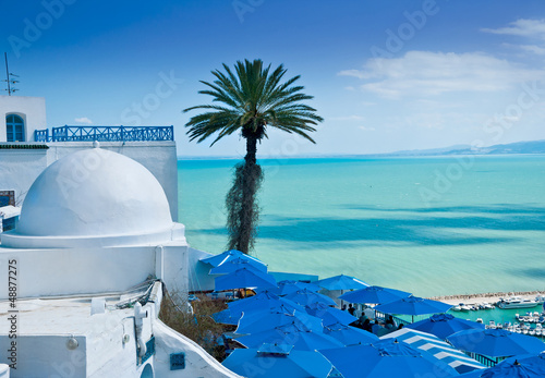In de dag Tunesië Sidi Bou Said, Tunis