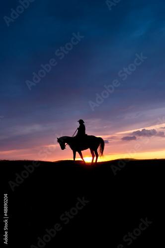 Foto op Aluminium Texas Einsamer Reiter