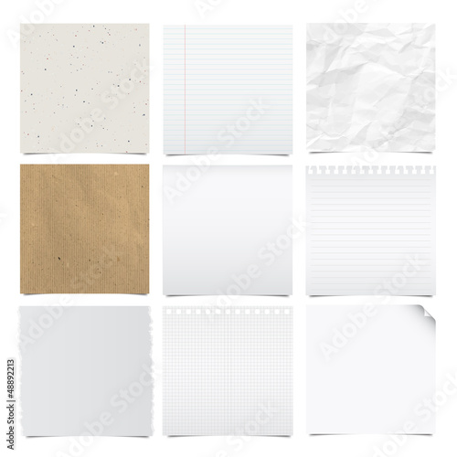 Obraz Collection of note papers background. - fototapety do salonu