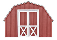 Barn Style Utility Tool Shed For Garden And Farm Equipment,