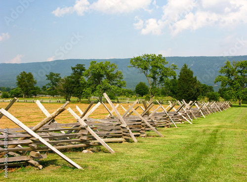 Civil War Battlefield with Fence Fototapete