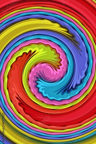 Poster Psychedelic Colors Swirl - Farben Wirbel