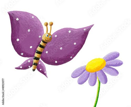 sliczny-purpurowy-motyl-i-kwiat