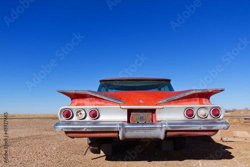 Keuken foto achterwand Vintage cars Abandoned Old Car