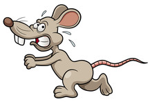 Illustration Of Cartoon Rat Ru...
