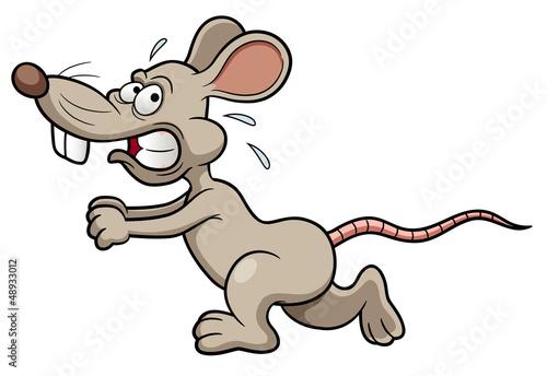 Photo  illustration of Cartoon rat running