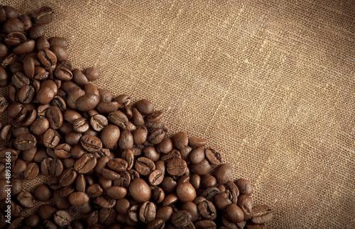 Fotografía  roasted brown coffee beans