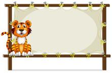 A Tiger Inside A Frame