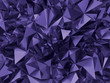 canvas print picture - abstract ultra violet crystal background