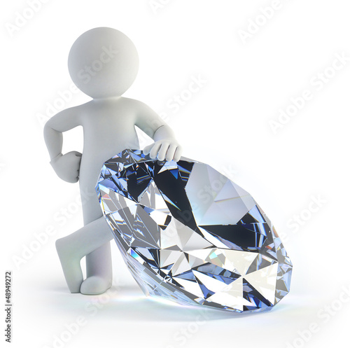 Fotomural 3d small people - diamond