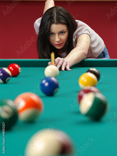 Fotografie, Tablou  Shooting pool