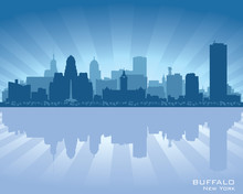 Buffalo, New York Skyline City...