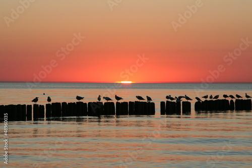 Zachód Słońca nad Bałtykiem - 48960035